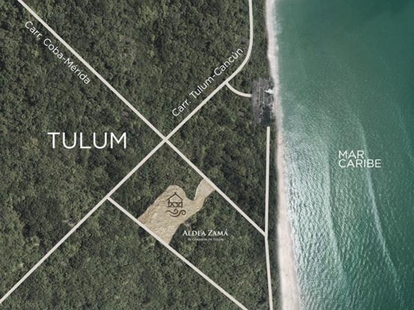 Mapa Tulum