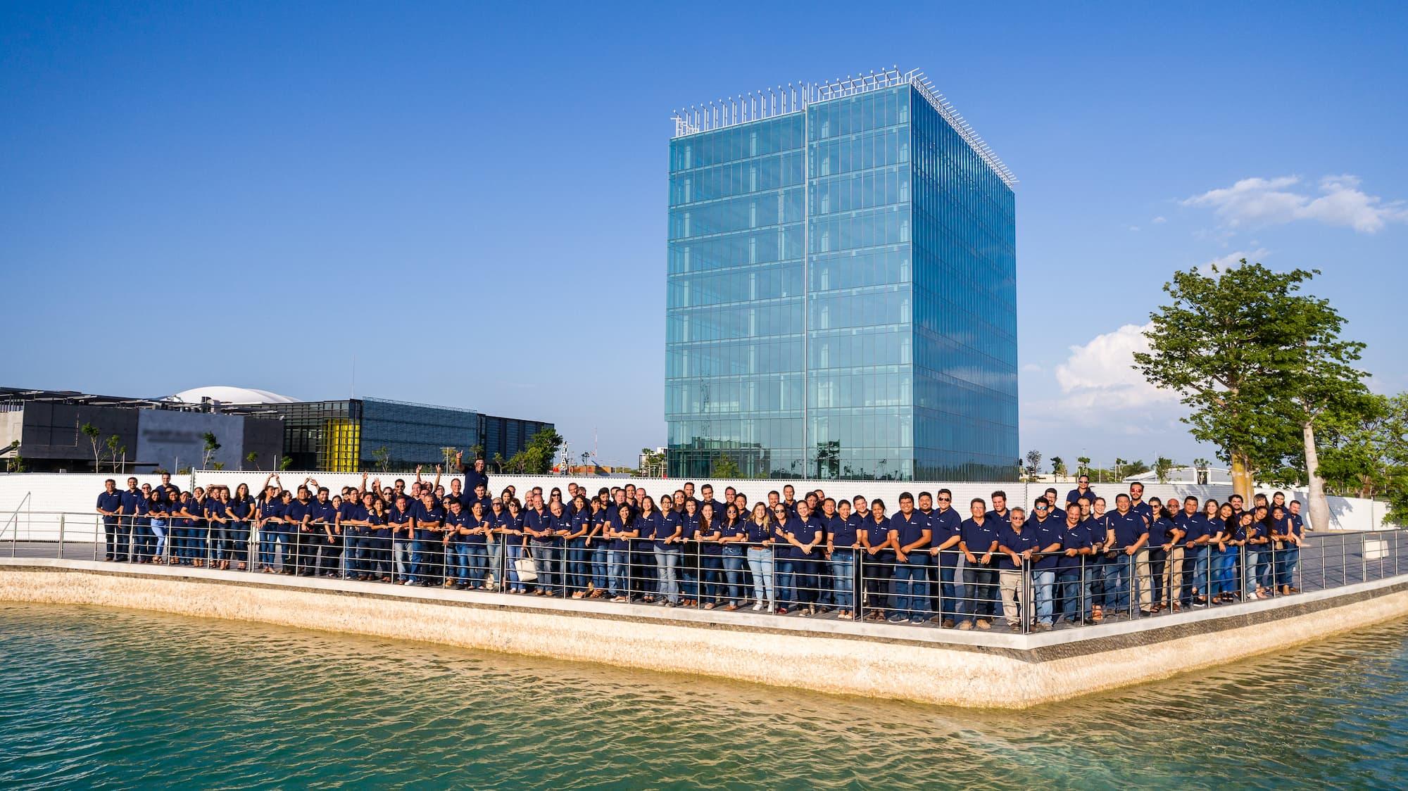 Work team, Inmobilia. Job vacancies in Merida, Yucatan.