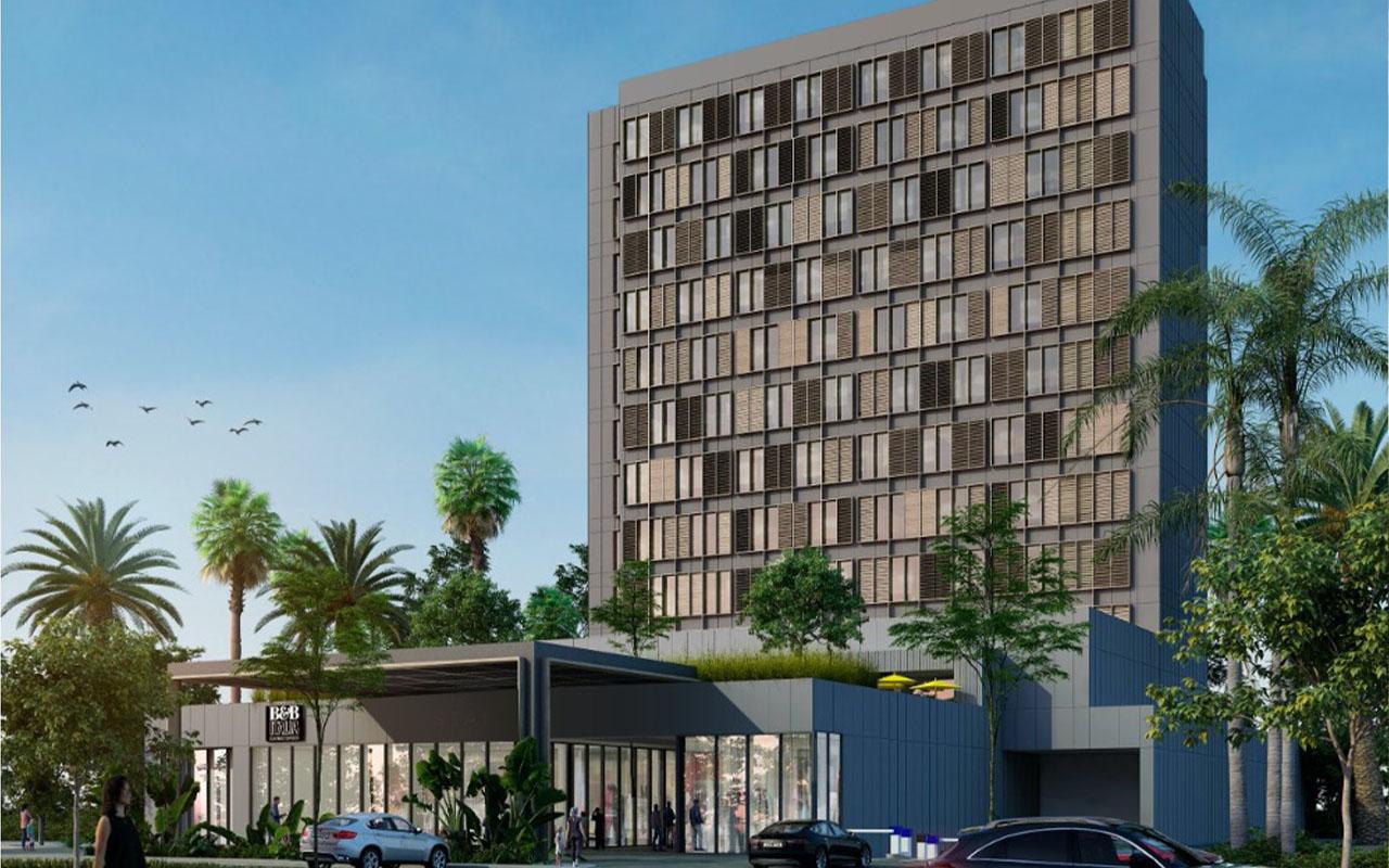 Fachada principal de Hyatt Place en desarrollo inmobiliario.